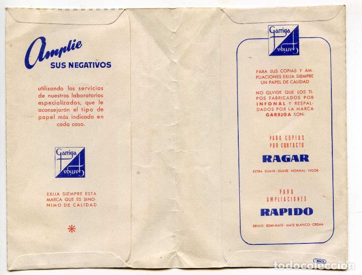 Coleccionismo deportivo: Sobre para revelado de negativos, Gevaert, Futbol, ARFE laboratorios Gijón Asturias - Foto 2 - 133601802