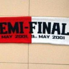 Coleccionismo deportivo: BUFANDA SEMIFINAL CHAMPIONS LEAGUE 2001 REAL MADRID - BAYERN MUNICH - MATCH DAY SCARF - OFICIAL. Lote 134000818