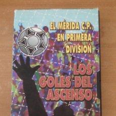Coleccionismo deportivo: MERIDA CP EN PRIMERA DIVISIÓN. LOS GOLES DEL ASCENSO. TEMPORADA 1994-1995. VHS.. Lote 134079834