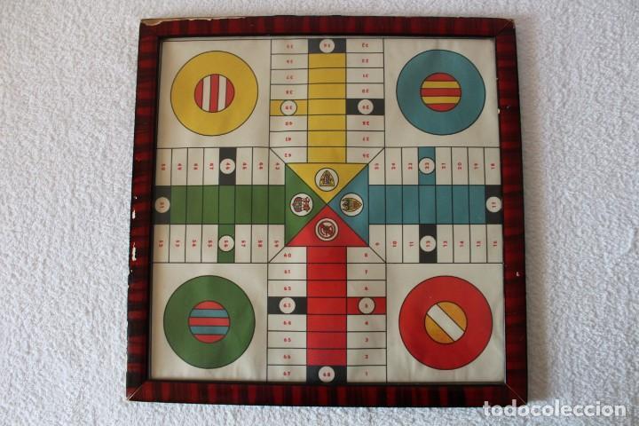PARCHIS (GRAN TAMAÑO 43X43) FUTBOL. (MADRID, BARCELONA, VALENCIA, BILBAO) - II REPUBLICA 1931-39 (Coleccionismo Deportivo - Merchandising y Mascotas - Futbol)