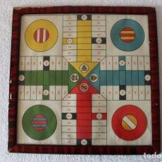 Coleccionismo deportivo: PARCHIS (GRAN TAMAÑO 43X43) FUTBOL. (MADRID, BARCELONA, VALENCIA, BILBAO) - II REPUBLICA 1931-39. Lote 135049478