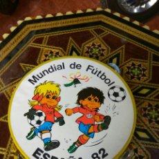 Coleccionismo deportivo: PANDERETA NARANJITO ESPAÑA 82. Lote 135560697
