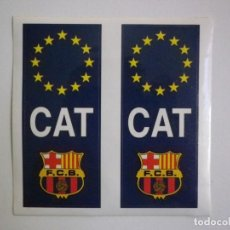 Coleccionismo deportivo: 2 PEGATINAS UNIÓN EUROPEA CATALUÑA CATALUNYA FC BARCELONA IDEAL PARA MATRICULA COCHE PEGATINA BARÇA. Lote 135569282