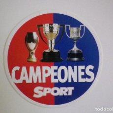 Coleccionismo deportivo: PEGATINA SPORT CAMPEONES BARÇA FC BARCELONA. Lote 135569398