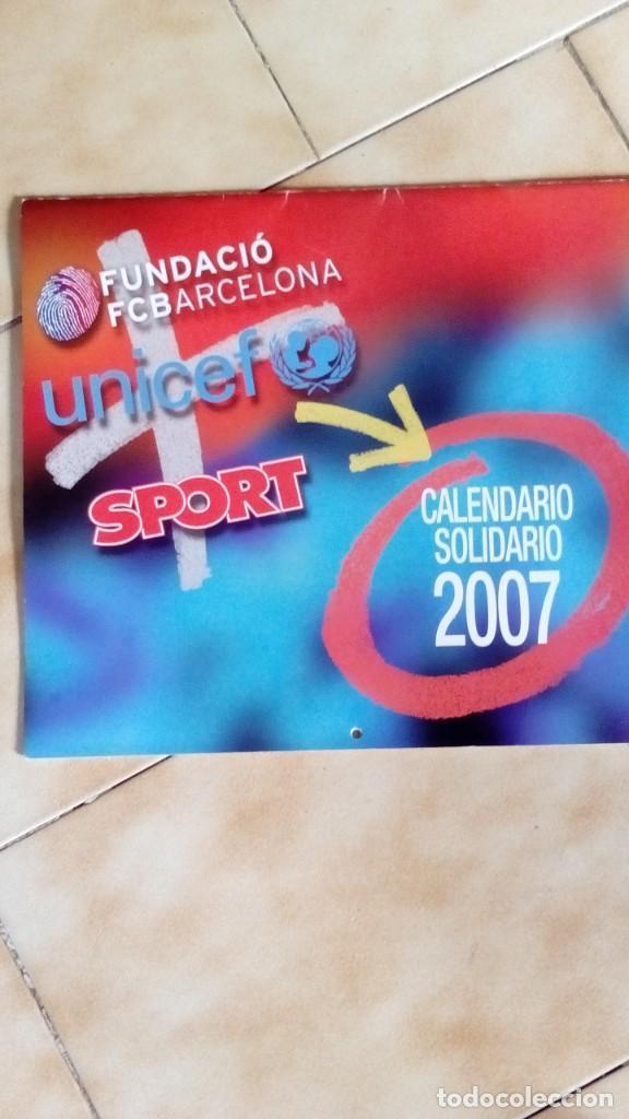 CALENDARIO SOLIDARIO DE PARED DEL FC BARCELONA 2007 - BARÇA UNICEF SPORT , MESSI ... (Coleccionismo Deportivo - Merchandising y Mascotas - Futbol)