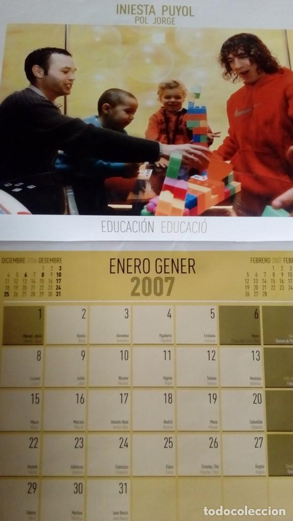 Coleccionismo deportivo: CALENDARIO SOLIDARIO DE PARED DEL FC BARCELONA 2007 - BARÇA UNICEF SPORT , MESSI ... - Foto 2 - 135910378