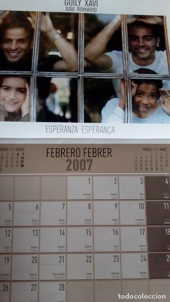 Coleccionismo deportivo: CALENDARIO SOLIDARIO DE PARED DEL FC BARCELONA 2007 - BARÇA UNICEF SPORT , MESSI ... - Foto 3 - 135910378