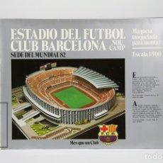 Coleccionismo deportivo: MAQUETA - ESTADIO DEL FÚTBOL CLUB BARCELONA / CAMP NOU - ESCALA 1:500 - SEDE MUNDIAL 82. Lote 136716888