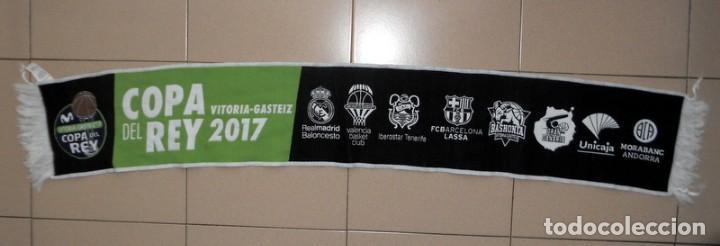 BUFANDA SCARF BALONCESTO BASKETBALL FINAL COPA DEL REY VITORIA GASTEIZ 17 2017 - REAL MADRID EQUIPOS (Coleccionismo Deportivo - Merchandising y Mascotas - Futbol)