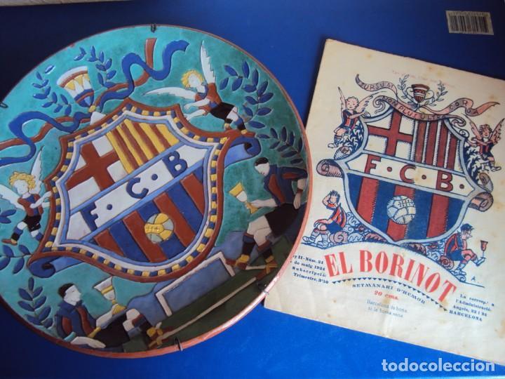 (F-181098)CERAMICA Y REVISTA ESCUDO F.C.BARCELONA AÑOS 20 . JOSEP ARAGAY BLANCHART (1889-1973) (Coleccionismo Deportivo - Merchandising y Mascotas - Futbol)