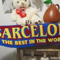 Coleccionismo deportivo: ESTUPENDA BUFANDA F.C. BARCELONA - THE BEST OF THE WORLD. Lote 137945766