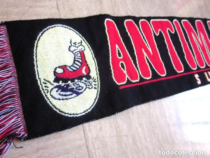 Coleccionismo deportivo: Bufanda Antimadridista grande Ultra Fútbol Supporters 126 cm largo negra roja - Foto 2 - 139155670