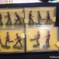 Coleccionismo deportivo: ESPECTACULAR COLECCION MUÑECOS DE PLOMO DEL FUTBOL CLUB F.C BARCELONA FC BARÇA CF JOYA. Lote 139695714