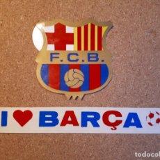 Coleccionismo deportivo: F.C. BARCELONA. DOS PEGATINAS AÑOS 80. Lote 140745790