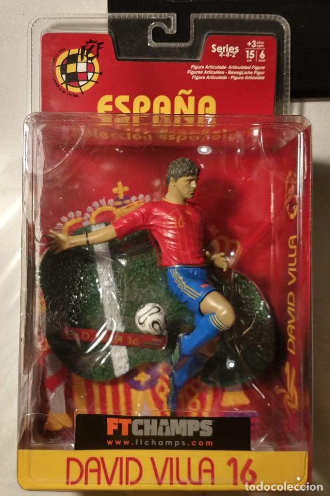FIGURA MUÑECO ACCIÓN FTCHAMPS FT CHAMPS DAVID VILLA ESPAÑA SELECCIÓN ESPAÑOLA SPORTING GIJON 15 CM (Coleccionismo Deportivo - Merchandising y Mascotas - Futbol)