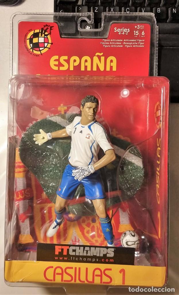 FIGURA MUÑECO ACCIÓN FTCHAMPS FT CHAMPS IKER CASILLAS REAL MADRID ESPAÑA SELECCIÓN ESPAÑOLA 15 CM (Coleccionismo Deportivo - Merchandising y Mascotas - Futbol)