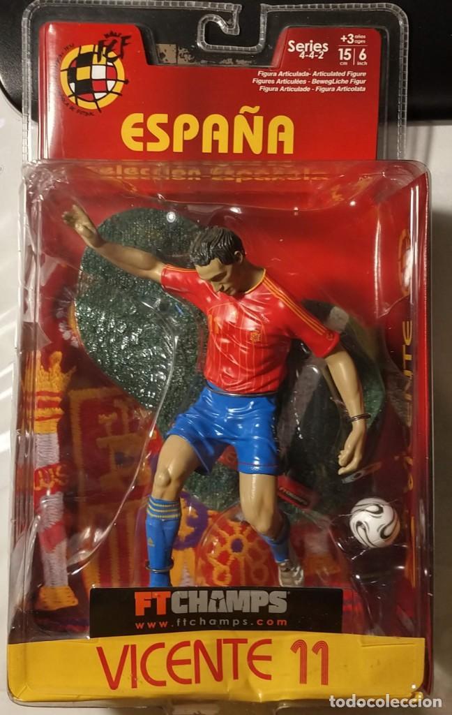 FIGURA MUÑECO ACCIÓN FTCHAMPS FT CHAMPS VICENTE RODRÍGUEZ VALENCIA ESPAÑA SELECCIÓN ESPAÑOLA 15 CM (Coleccionismo Deportivo - Merchandising y Mascotas - Futbol)