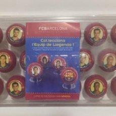 Coleccionismo deportivo: COFRE DE COLECCION PARA MINIDOL F.C.BARCELONA SERIE LIMITADA TRI CAMPIONS 2008 2009. Lote 141434402