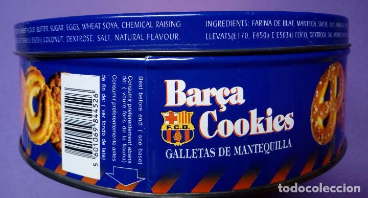 Coleccionismo deportivo: Caja Barça Cookies metálica (1996 - 1997) - Foto 2 - 142529226