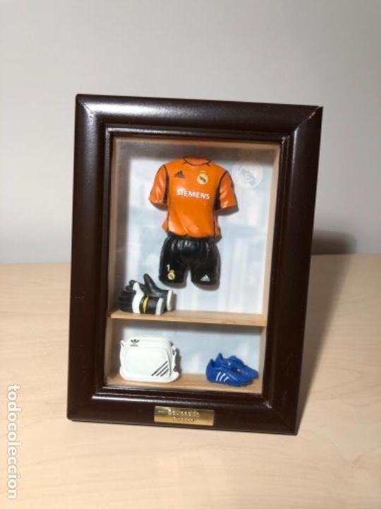 MINI CUADRO EQUIPACIONES HISTORICAS REAL MADRID (Coleccionismo Deportivo - Merchandising y Mascotas - Futbol)