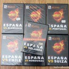 Coleccionismo deportivo: COLECCION DVD PARTIDOS SELECCION ESPAÑOLA CAMPEON MUNDIAL SUDAFRICA 2010 FIFA WORLD CUP. Lote 174092054
