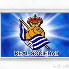 Coleccionismo deportivo: IMAN ACRILICO NEVERA - FUTBOL REAL SOCIEDAD. Lote 143230038