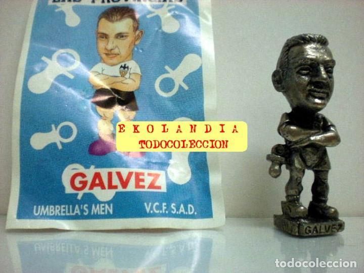 Coleccionismo deportivo: 20 FIGURITAS METALICAS EKL JUGADORES DEL VALENCIA FC, FUTBOLISTAS EN MINIATURA - Foto 6 - 144839298
