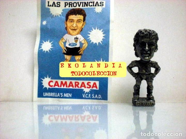 Coleccionismo deportivo: 20 FIGURITAS METALICAS EKL JUGADORES DEL VALENCIA FC, FUTBOLISTAS EN MINIATURA - Foto 15 - 144839298