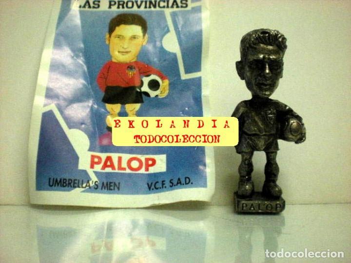 Coleccionismo deportivo: 20 FIGURITAS METALICAS EKL JUGADORES DEL VALENCIA FC, FUTBOLISTAS EN MINIATURA - Foto 19 - 144839298