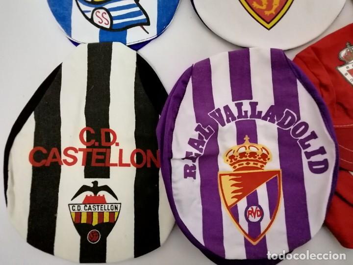 Coleccionismo deportivo: LOTE DE 17 GORRAS DE EQUIPOS DE FUTBOL ESPAÑOLES. - Foto 4 - 145486106