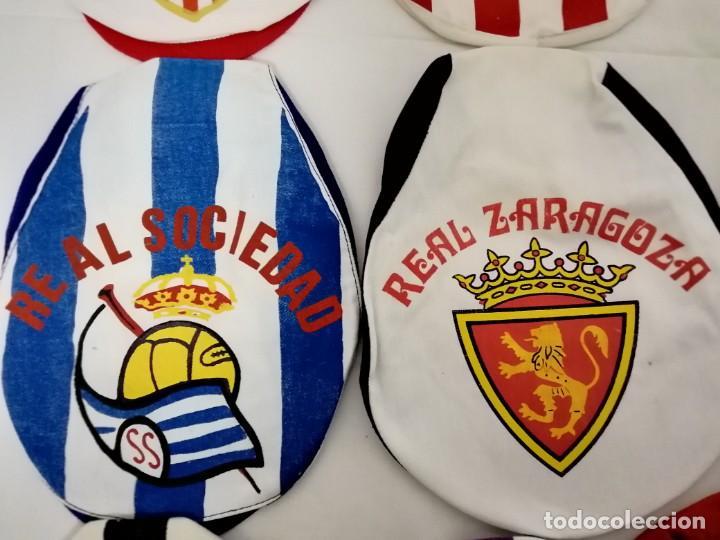 Coleccionismo deportivo: LOTE DE 17 GORRAS DE EQUIPOS DE FUTBOL ESPAÑOLES. - Foto 8 - 145486106