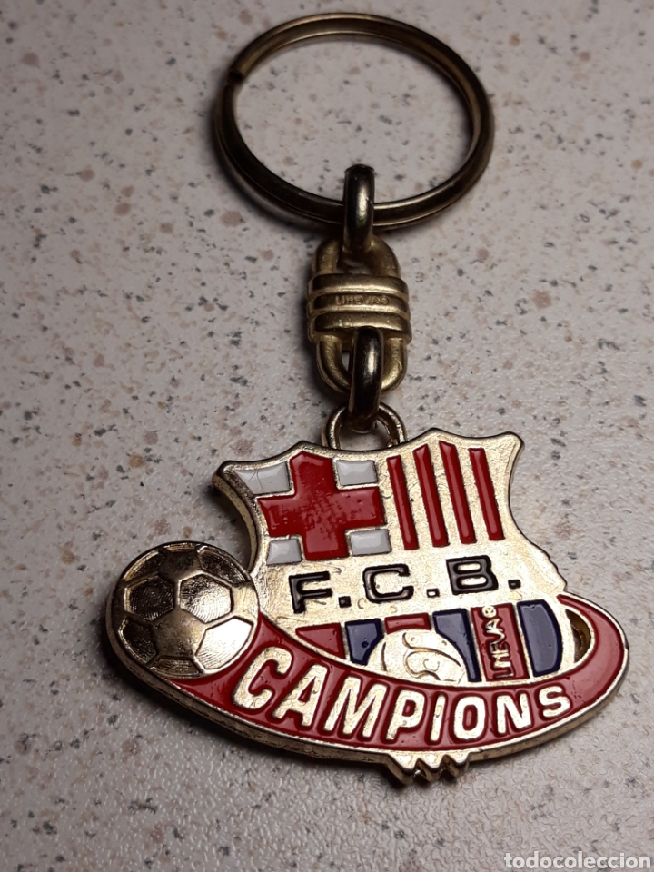 LLAVERO DEL FC BARCELONA CAMPIONS GOL . METAL ESMALTADO (Coleccionismo Deportivo - Merchandising y Mascotas - Futbol)