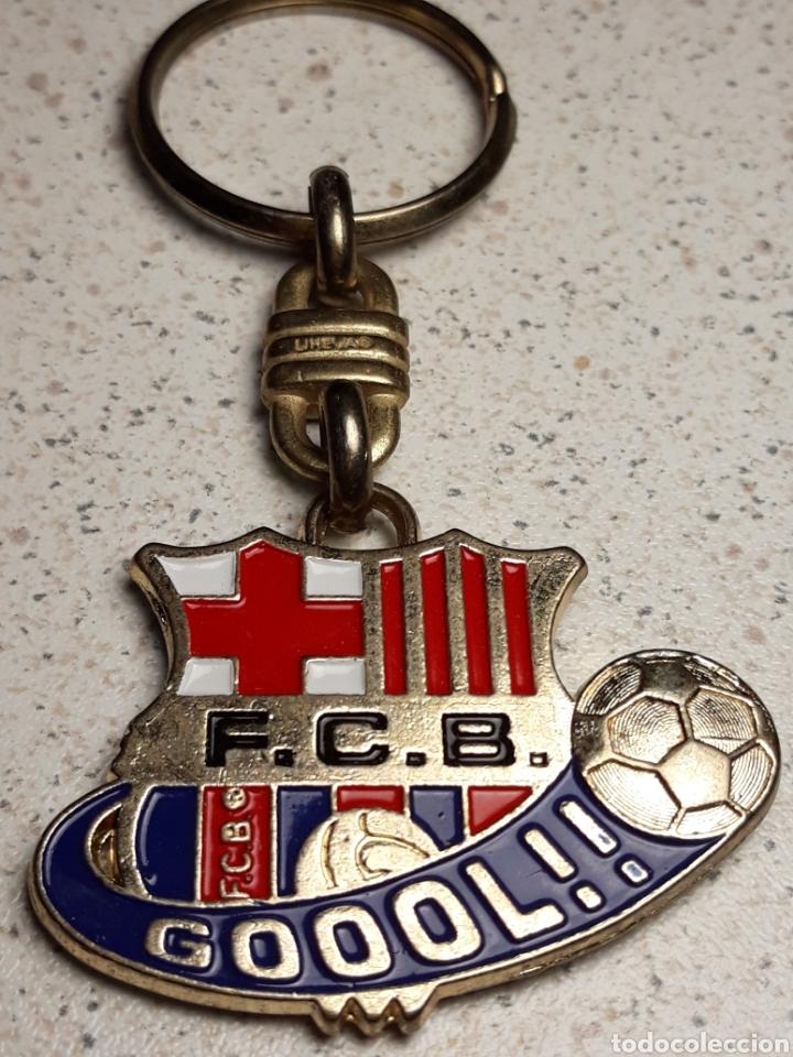 Coleccionismo deportivo: Llavero del FC Barcelona campions gol . Metal esmaltado - Foto 2 - 145936276