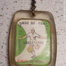 Coleccionismo deportivo: LLAVERO EN METACRILATO DEL MUNDIAL DE FUTBOL DE INGLATERRA 1966 . SELECCIÓN BULGARIA . GAULOIS. Lote 146648304