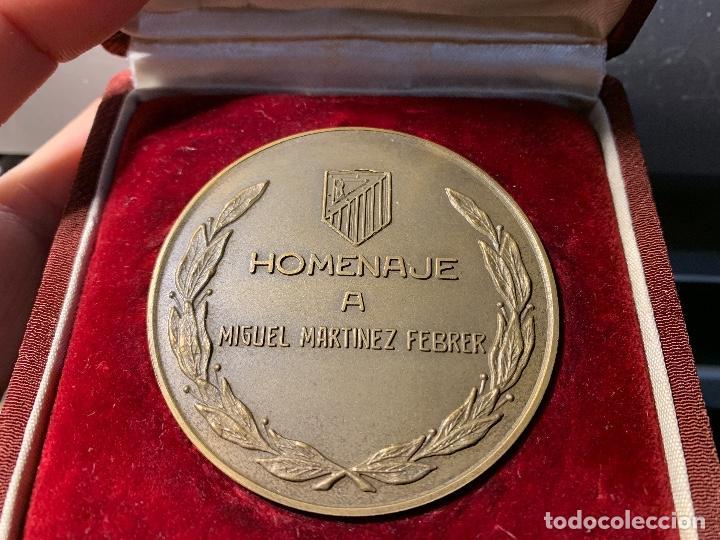 MEDALLA HOMENAJE MIGUEL MARTINEZ FEBRER AT MADRID 1967 O FUTBOL CLUB FC BARCELONA CF BARÇA F.C (Coleccionismo Deportivo - Merchandising y Mascotas - Futbol)
