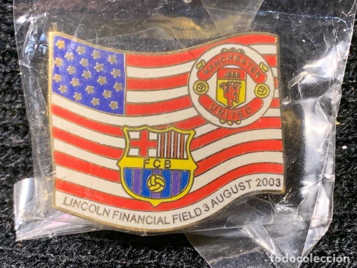 PING INSIGNIA PARTIDO ESTADOS UNIDOS MANCHESTER FUTBOL CLUB BARCELONA FC BARCELONA CF BARÇA F.C (Coleccionismo Deportivo - Merchandising y Mascotas - Futbol)