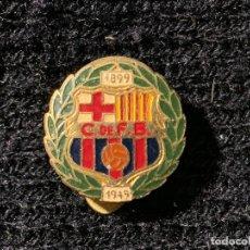 Coleccionismo deportivo: PING INSIGNIA BODAS DE ORO 1949 FUTBOL CLUB BARCELONA FC BARCELONA CF BARÇA F.C . Lote 147421934