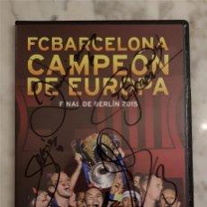 Coleccionismo deportivo: FC BARCELONA BARÇA DVD OFICIAL -CAMPEON DE EUROPA- FINAL BERLIN 2015 FIRMADO JUGADORES. Lote 147544338