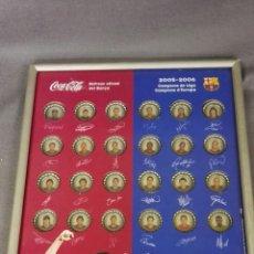 Coleccionismo deportivo: CUADRO DE CHAPAS COCA-COLA Y FCB. Lote 147573284