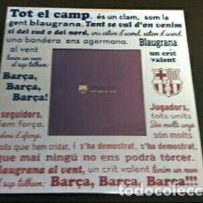 Coleccionismo deportivo: MARCO FOTOS HIMNO DEL FC BARCELONA ESCRITO.. Lote 148243658