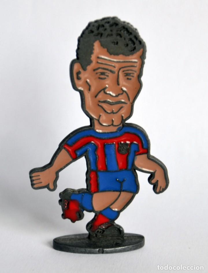 FIGURA DE METAL - JUGADOR DEL FÚTBOL CLUB / FC BARCELONA - TEMPORADA 1998-99: RIVALDO (Coleccionismo Deportivo - Merchandising y Mascotas - Futbol)