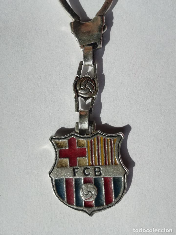 LLAVERO DE PLATA CON ESMALTE DEL FUTBOL CLUB BARCELONA ESCUDO BARÇA (Coleccionismo Deportivo - Merchandising y Mascotas - Futbol)