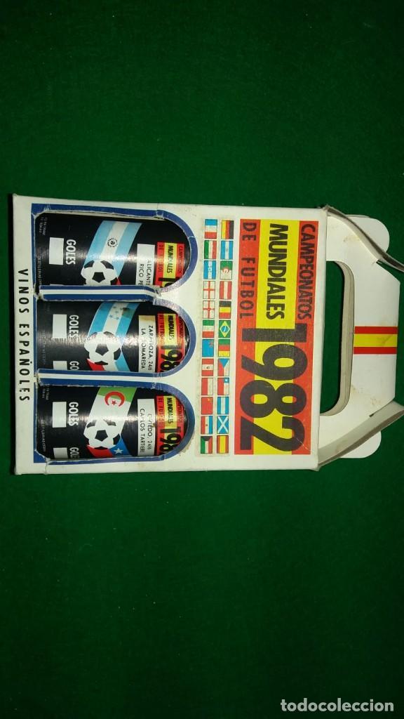 Coleccionismo deportivo: 3 ESTUCHES DE BOTELLINES DE VINOS ESPAÑOLES MUNDIAL 82 (ver fotos ) - Foto 2 - 150097474