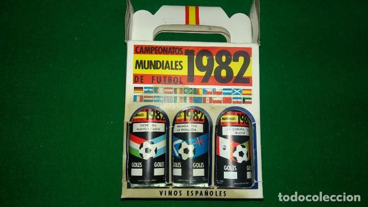 Coleccionismo deportivo: 3 ESTUCHES DE BOTELLINES DE VINOS ESPAÑOLES MUNDIAL 82 (ver fotos ) - Foto 6 - 150097474