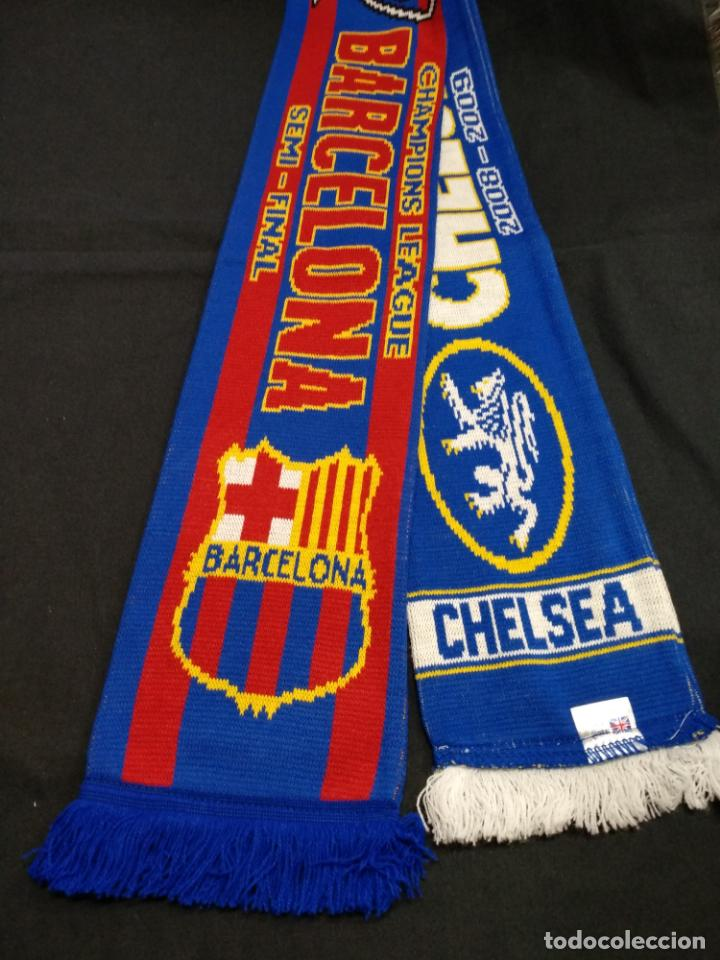 BUFANDA CHELSEA - F.C. BARCELONA - 2008 2009 - CHAMPIONS LEAGUE - GOL  INIESTA (Coleccionismo ab2a4c62643