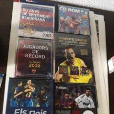 Coleccionismo deportivo: 6 COLECCIONABLES MERCHANDISING DEL F. C. BARCELONA 2 CALENDARIOS, 3 DVD Y 1 CD ROM. Lote 150211054