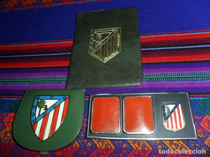 ESCUDO ATLÉTICO DE MADRID PORTAFOTOS SEAT 1500, MONEDERO PIEL, CARTERA PEÑA EUSEBIO REGALO INSTANTES (Coleccionismo Deportivo - Merchandising y Mascotas - Futbol)