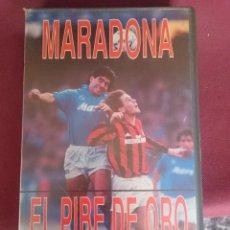 Coleccionismo deportivo: VHS- SOLO TAPAS SIN LA CINTA - MARADONA EL PIBE DE ORO. Lote 226400292