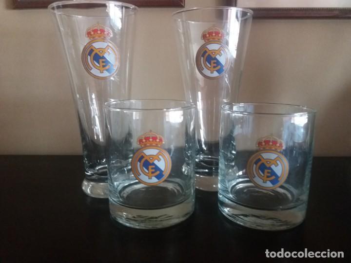 4 VASOS DEL REAL MADRID (Coleccionismo Deportivo - Merchandising y Mascotas - Futbol)