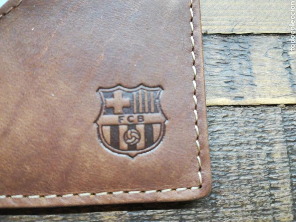 Coleccionismo deportivo: PORTA TARJETAS DE PIEL FC BARCELONA - Foto 4 - 151686526